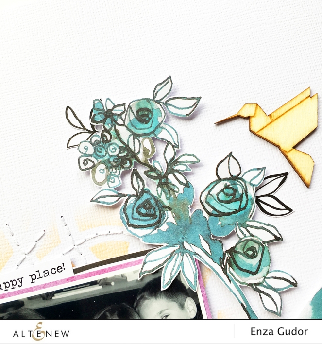Stencil as a stitching template @Altenew @enzamg #scrapbooking #stencils