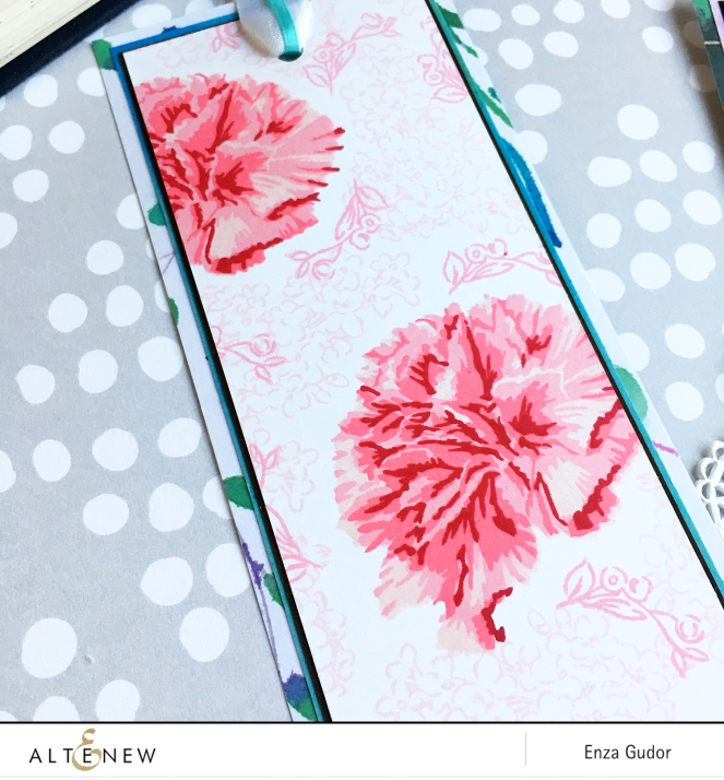 Altenew - BAF Carnation - Enza Gudor - Bookmarks - CloseUp1