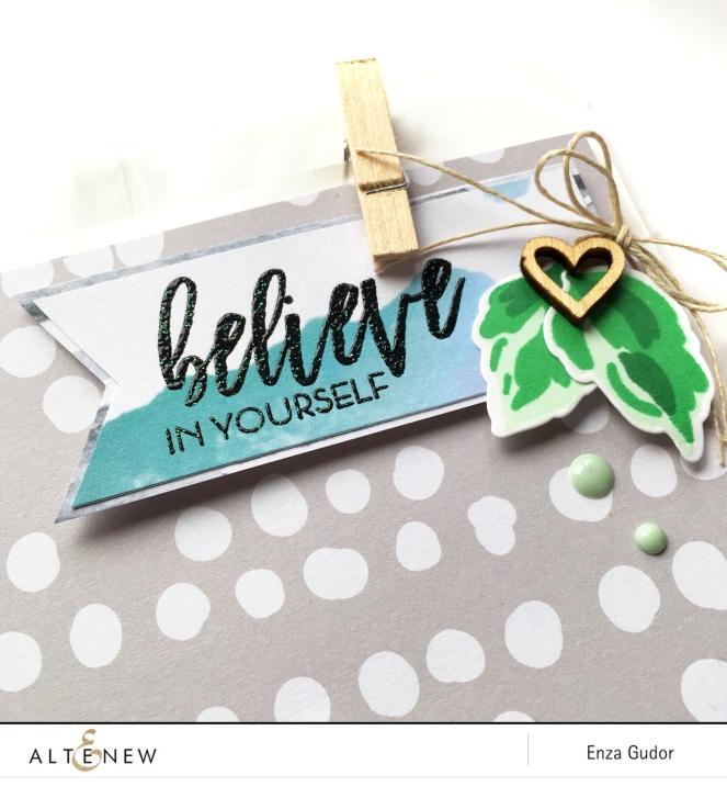 Glassine bag decorated with @altenew #BuildAFlowerChrysanthemum @enzamg