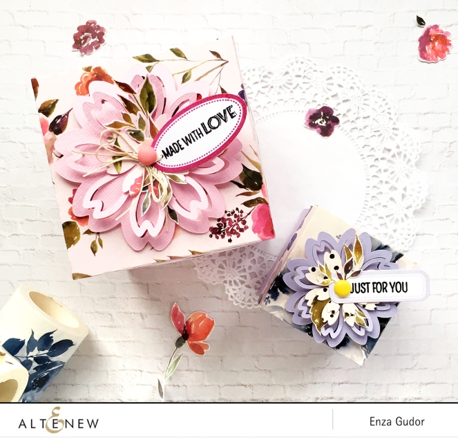 Gift boxes by @enzamg with @Altenew washi tapes. #washitape #giftboxes #giftwrapping #diy #handmadegifts
