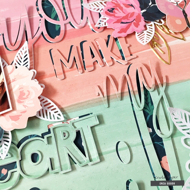 Oversized title by @enzamg for @cratepaper with #cpflourish #layout #scrapbooking
