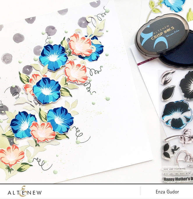 Home Decor project by @enzamg for @Altenew using BAF:Morning Glory. #stamping #homedecor