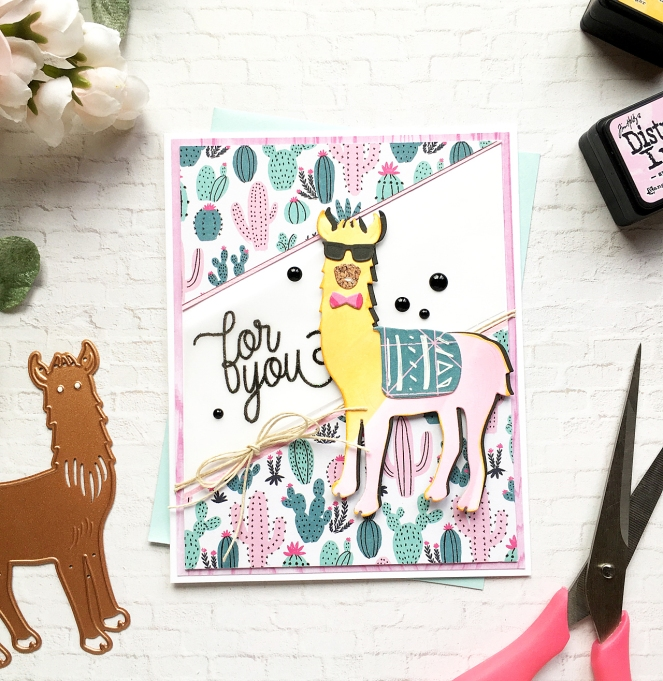 Llama card by @enzamg for @Spellbinders - #cardmaking #diecutting #cards