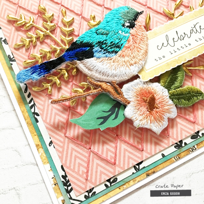 Stitched cards by @enzamg for @CratePaper using #cpflourish collection.