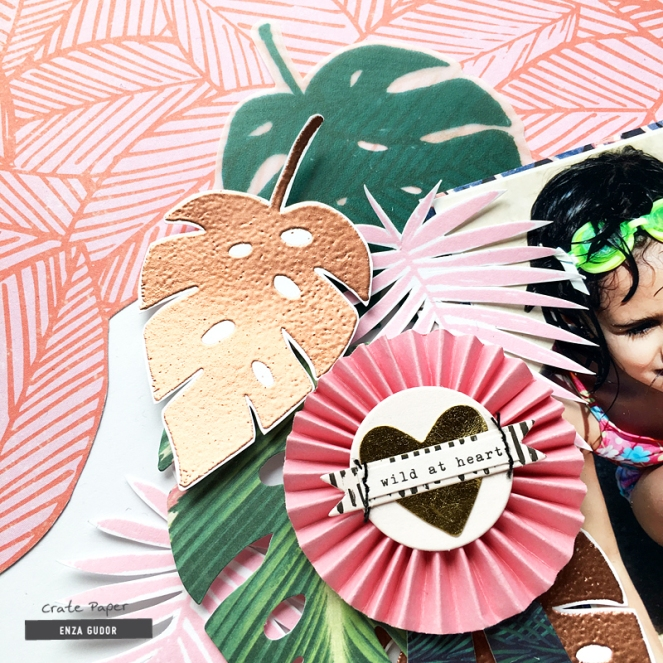 Vacation layout by @enzamg for @cratepaper with #cpwildheart collection. #cratepaper #scrapbooking #layout