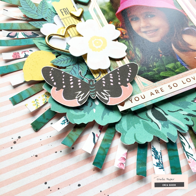 Paper strips layout by @enzamg for @cratepaper using #cpflourish collection. #scrapbooking #layout #cratepaper