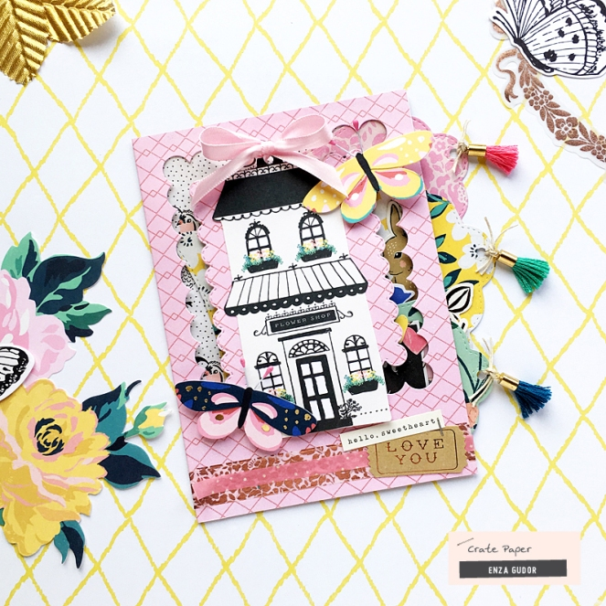Interactive cards by @enzamg for @cratepaper using #CPHere+There and #CPFlourish collections. #cards #cardmaking #cratepaper