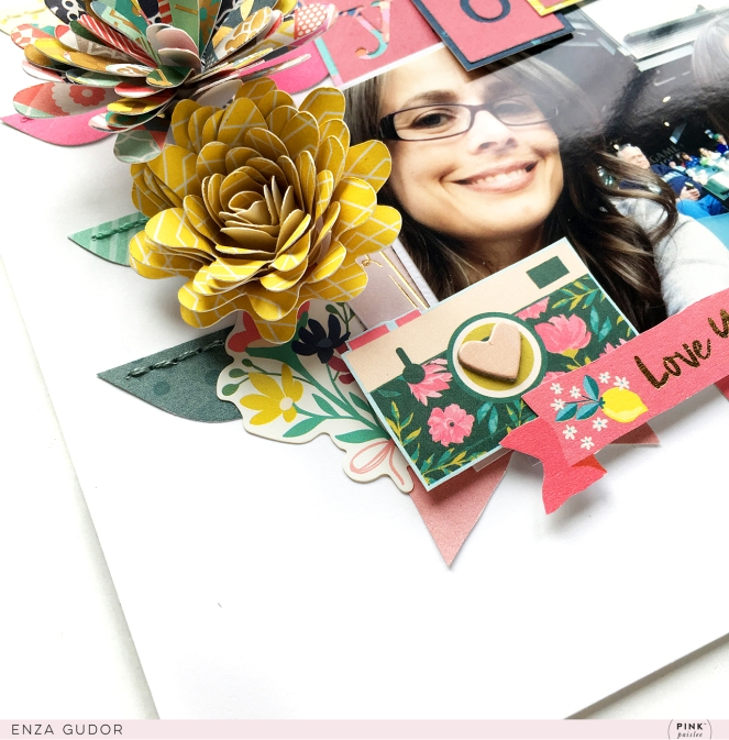 Big title layout by @enzamg for @pinkpaislee using the Pick-Me-Up collection. #paperpads #scrapbooking #layout #bigtitle