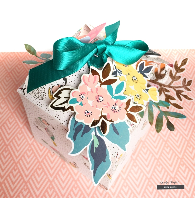Gift wrapping idea by @enzamg for @cratepaper using the Flourish collection. #cratepaper #giftwrapping #1-2-3punchboard #handmade #box