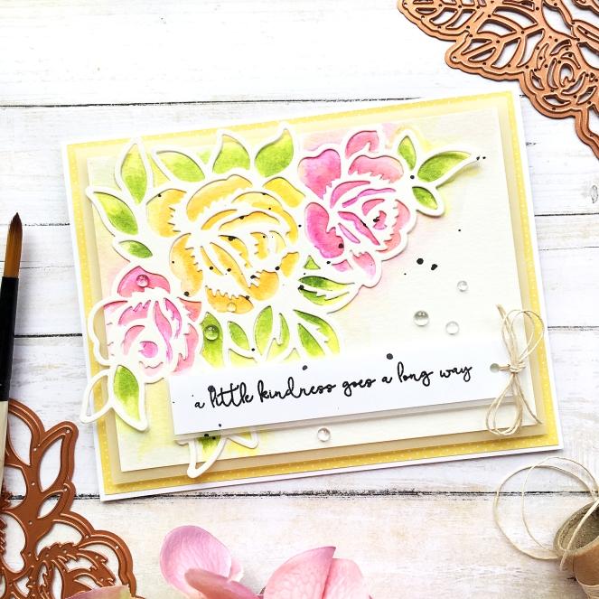 Set of floral cards by @enzamg for @Spellbinders using June Large Die of The Month. #Spellbinders #cards #cardmaking #mixedmedia #cuttingdies