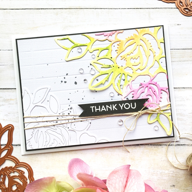 Set of floral cards by @enzamg for @Spellbinders using June Large Die of The Month. #Spellbinders #cards #cardmaking #mixedmedia #cuttingdies