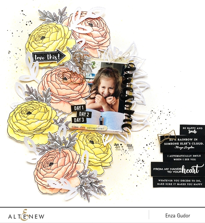 Layout by @enzamg for @Altenew. #scrapbooking #stamping
