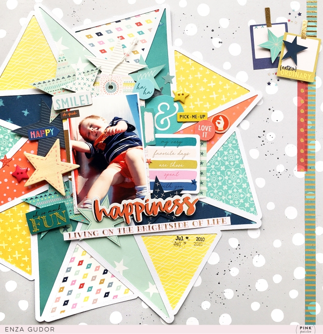 Masculine layout by @enzamg for @pinkpaislee. #scrapbooking #masculinelayout #cutfile