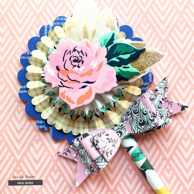 Rosette Paper Wands Tutorial by @enzamg for @cratepaper. #diy #cpcraftwithkids #tutorial #rosette #paperwands