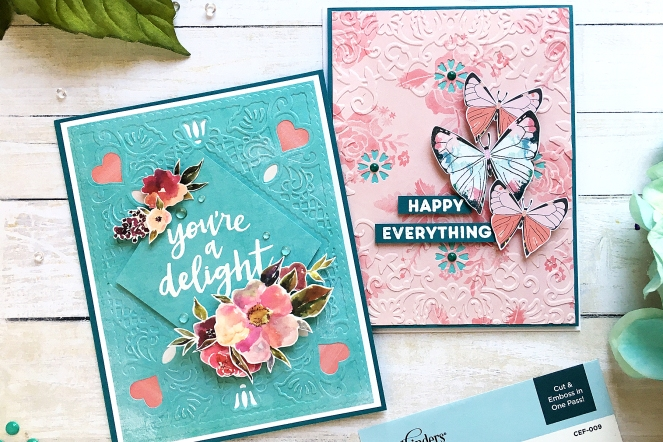 Everyday card by @enzamg for @spellbinders using Cut & Emboss Folders. #spellbinders #card #cardmaking #cutandemboss