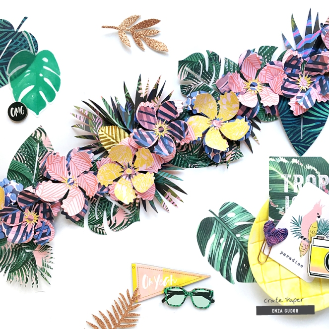 Tropical Party Garland by @enzamg for @cratepaper using #ppwildheart. #diy #handmadedecor #partydecor