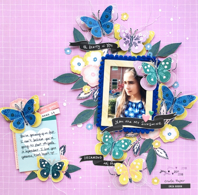 Layout by @enzamg for @cratepaper using the Willow Lane collection. #scrapbooking #cratepaper #memorykeeping
