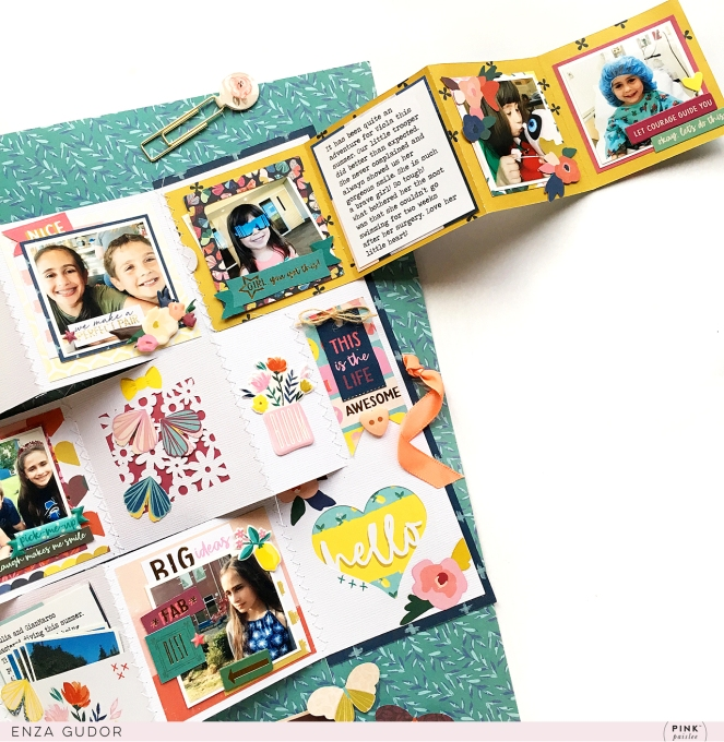 Multi Photo Layout by @enzamg for @pinkpaislee using the #pppickmeup collection. #pinkpaislee #cutfiles #minialbum #layout #scrapbooking
