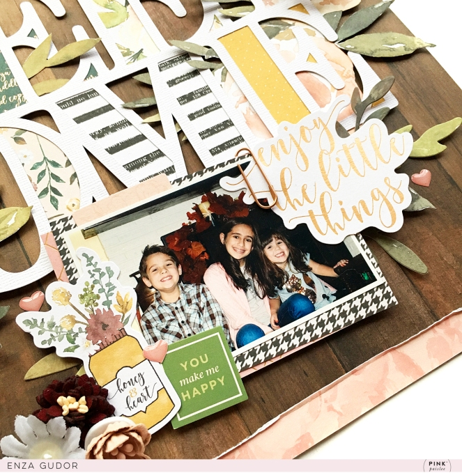 Fall layout by @enzamg for @pinkpaislee using #ppAuburnLane. #scrapbooking #falllayout #fall