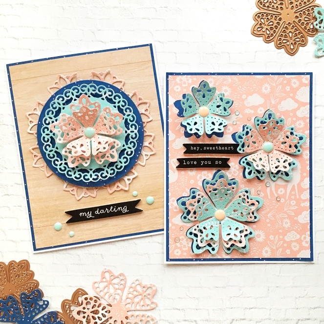 Everyday cards by @enzamg for @spellbinders using the Special Moments collection by Marisa Job. #spellbinders #cratepaper @cratepaper #cards #cardmaking