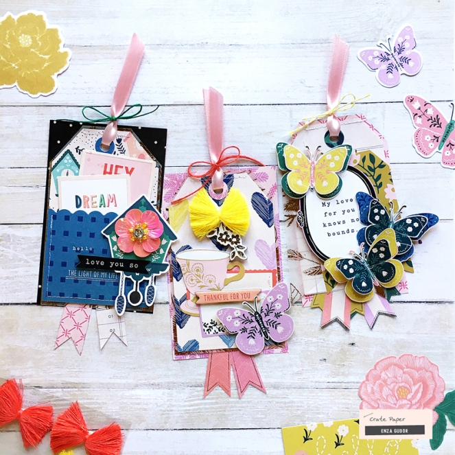 Gift Tags by @enzamg for @cratepaper using the Willow Lane collection. #gifttags #giftwrapping #diy #handmadecrafts #gifts