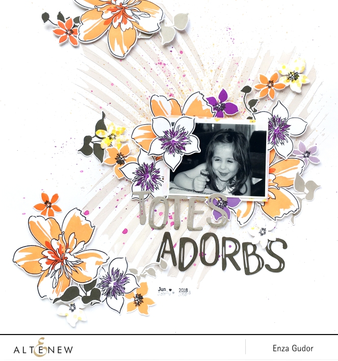 Scrapbook Layout by @enzamg for @Altenew using Artist Markers Refills. #altenew #mixedmedia #scrapbooking #alcoholinks
