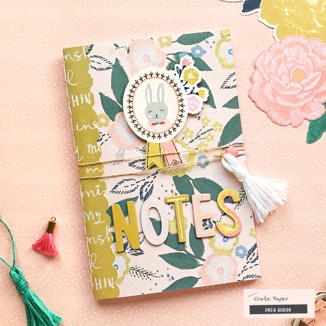 Handmade Journal Tutorial by @enzamg for @cratepaper with the #willowlane collection. #cratepaper #journaltutorial #journal #handmade #diy