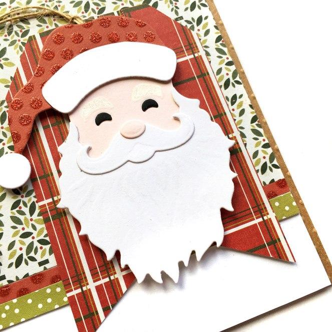 Christmas Card by @enzamg for @Spellbinders using Holiday Die D-Lites. #spellbinders #diecutting #christmas #holidays