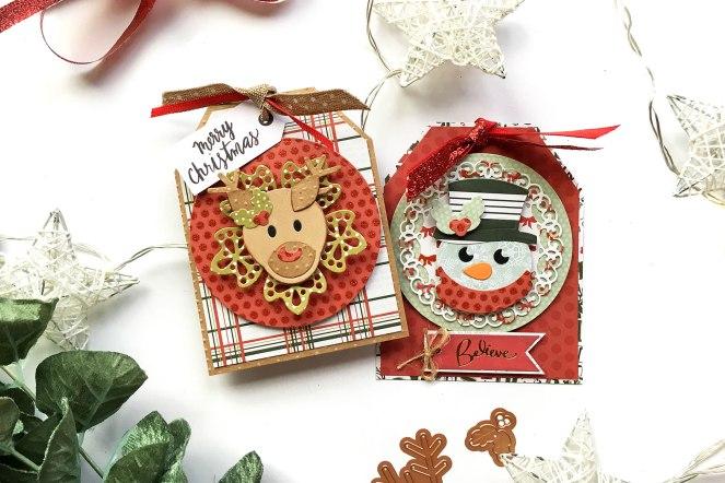 Christmas Tags by @enzamg for @Spellbinders using Holiday Die D-Lites. #spellbinders #diecutting #christmas #holidays
