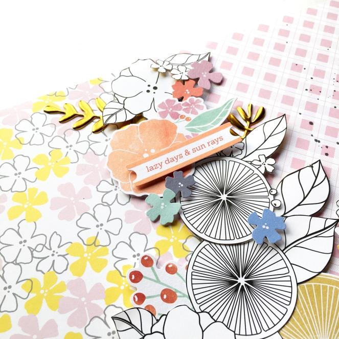 Simple & Sweet Guest Designer @enzamg for @pinkfreshstudio. #pinkfreshstudio #papercrafting #scrapbooking #layout