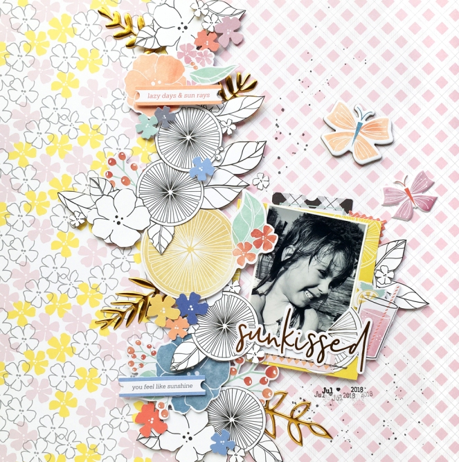 Simple & Sweet Guest Designer @enzamg for @pinkfreshstudio. #pinkfreshstudio #papercrafting #scrapbooking #layout