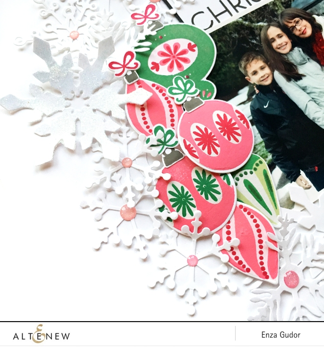 Snowy layout by @enzamg for @altenew. #altenew #christmas #winter #scrapbooking #diecutting