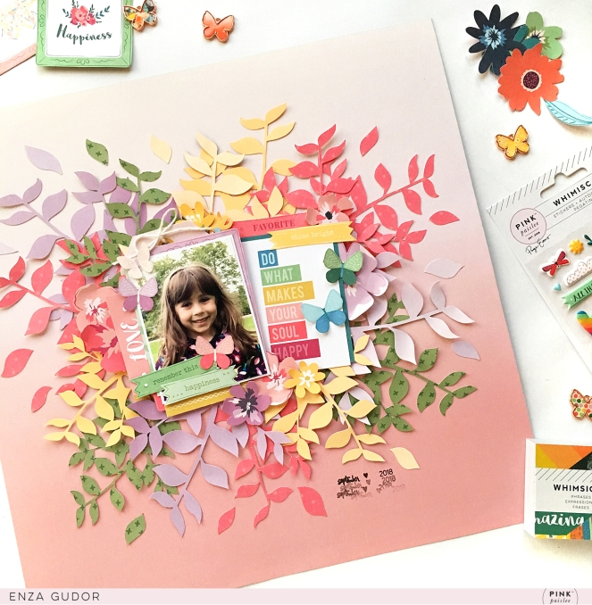 Fall layout by @enzamg for @pinkpaislee using the #ppwhimsical collection. #pinkpaislee #cutfiles #falllayout