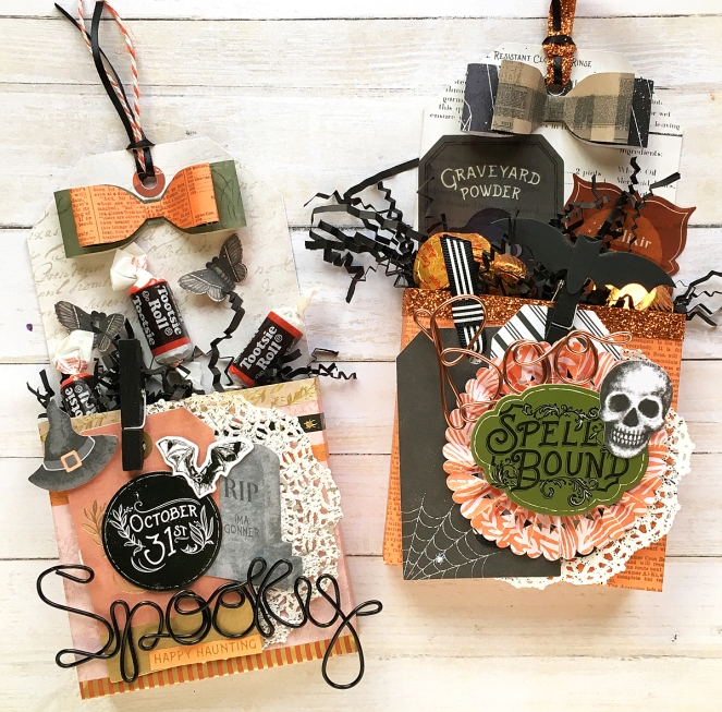Halloween Treat Boxes by @enzamg for @wermemorykeepers. #wermemorykeepers #tagpunchboard #123punchboard #happyjig #halloween #giftwrapping