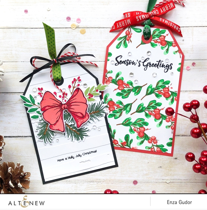 25 Days of Christmas Tags. @enzamg @altenew #christmas #christmastags #altenew