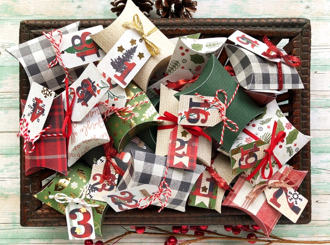 DCWV Farmhouse Christmas Advent Calendar by @enzamg for @DCWV and @joann