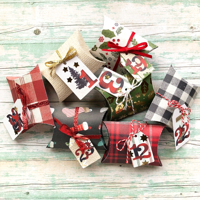 DCWV Farmhouse Christmas Advent Calendar by @enzamg for @DCWV and @joann