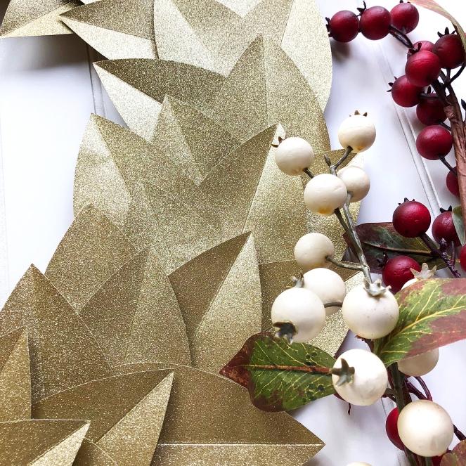 Gold Glitter Wreath by @enzamg for @DCWV and @joann. #diy #handmade #christmas #holidays
