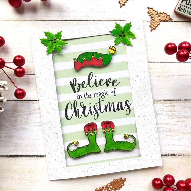 Spellbinders + FSJ Christmas Cards bu @enzamg. @spellbinders @funstampersjourney #christmascards #handmadecards