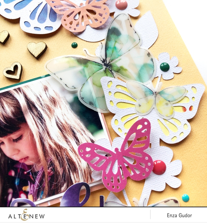Butterfly layout for @altenew by @enzamg. #scrapbooking #layout #butterflies