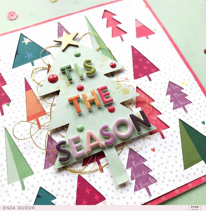 Whimsical Christmas Cards by @enzamg for @pinkpaislee using #ppwhimsical. #cards #cardmaking #pinkpaislee #christmas